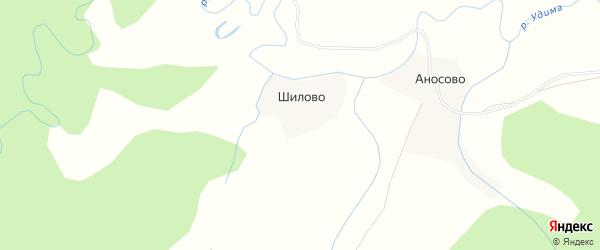 Карта деревни Шилово в Архангельской области с улицами и номерами домов