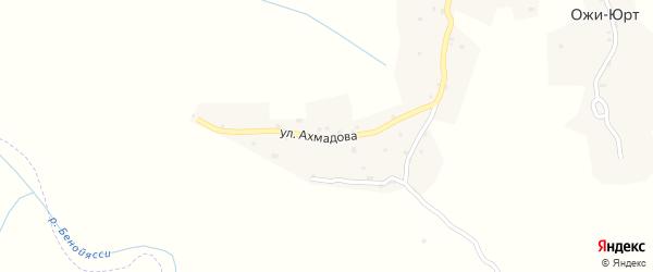 Аксайская улица на карте села Корена-Беноя с номерами домов