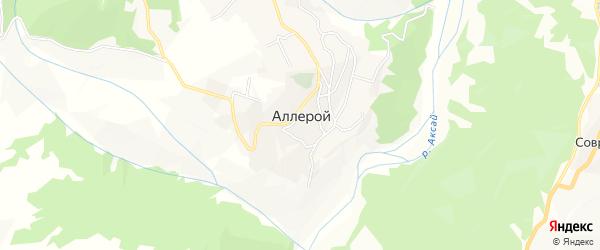 Карта села Аллерого в Чечне с улицами и номерами домов