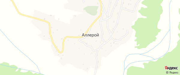 Улица Б.Б.Закриева на карте села Аллерого с номерами домов