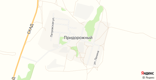 Карта поселка Придорожный в Саратовской области
