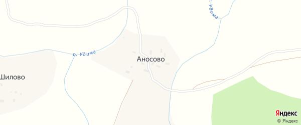 Аносовская улица на карте деревни Аносово с номерами домов