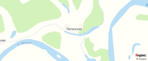 Карта Патинской деревни в Архангельской области с улицами и номерами домов