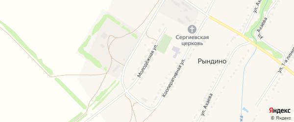 Молодежная улица на карте села Рындино с номерами домов