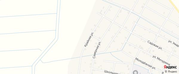 Крайняя улица на карте села Кади-Юрт с номерами домов