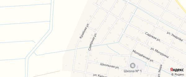 Северная улица на карте села Кади-Юрт с номерами домов