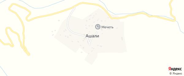 Центральная улица на карте села Ашали с номерами домов