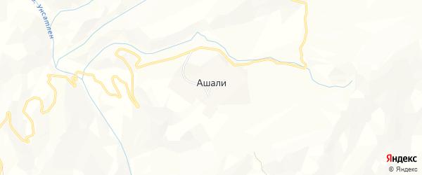Карта села Ашали в Дагестане с улицами и номерами домов
