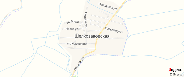 Карта Шелкозаводской станицы в Чечне с улицами и номерами домов