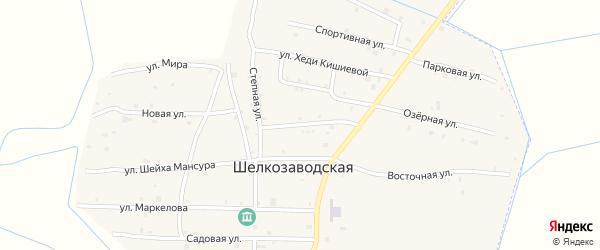 Степная улица на карте Шелкозаводской станицы с номерами домов