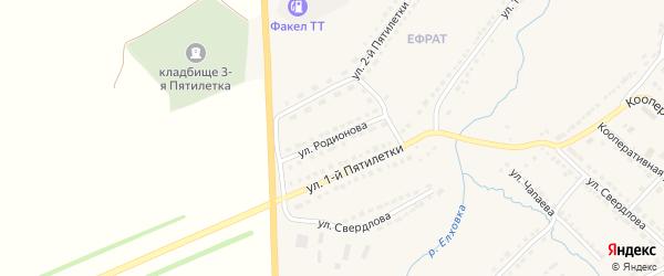 Улица Родионова на карте Порецкого села с номерами домов