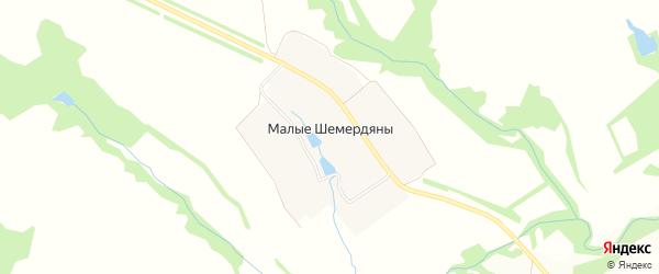 Карта деревни Малые Шемердяны в Чувашии с улицами и номерами домов