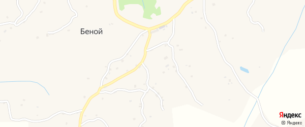 Круговая улица на карте села Беноя с номерами домов