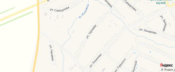 Улица Чапаева на карте Порецкого села с номерами домов