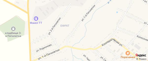 Улица 1 Пятилетки на карте Порецкого села с номерами домов