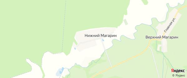 Карта деревни Нижнего Магарина в Чувашии с улицами и номерами домов