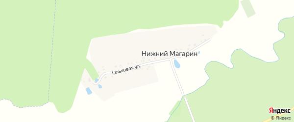 Ольховая улица на карте деревни Нижнего Магарина с номерами домов