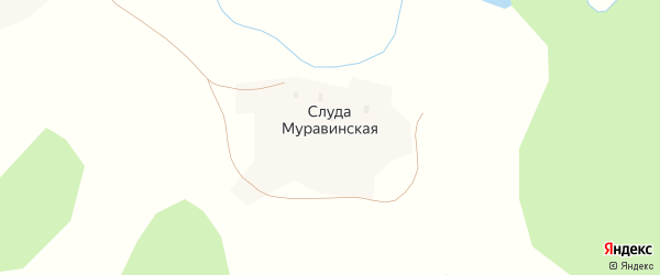 Территория Промплощадка на карте деревни Слуды с номерами домов