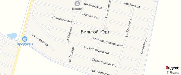 Административная улица на карте села Бильтой-юрт с номерами домов