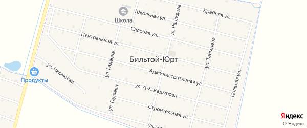 Школьная улица на карте села Бильтой-юрт с номерами домов