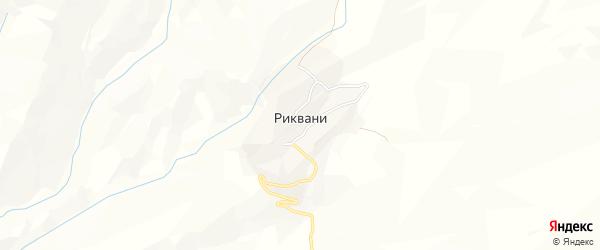 Карта села Риквани в Дагестане с улицами и номерами домов