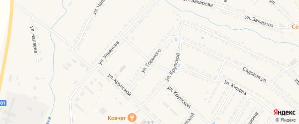Улица Горького на карте Порецкого села с номерами домов