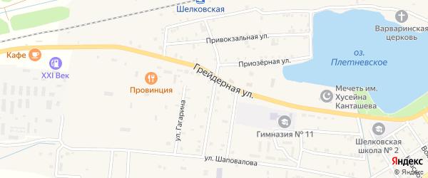 Улица Калинина на карте Шелковской станицы с номерами домов