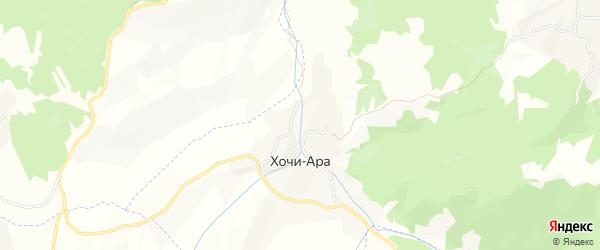 Карта села Хочи-Ары в Чечне с улицами и номерами домов