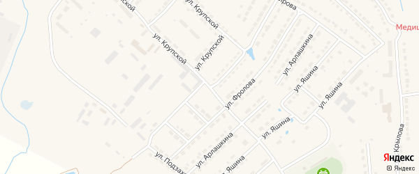 Улица Подзаходникова на карте Порецкого села с номерами домов