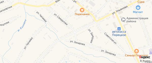 Улица Ульянова на карте Порецкого села с номерами домов