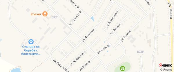 Улица Фролова на карте Порецкого села с номерами домов