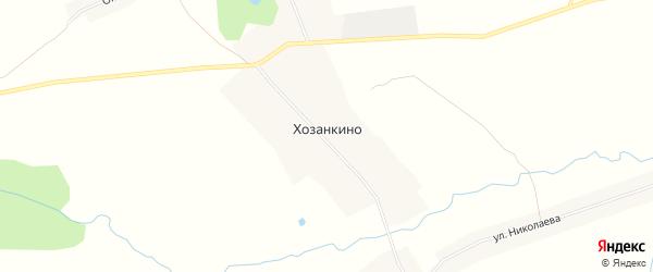 Карта деревни Хозанкино в Чувашии с улицами и номерами домов