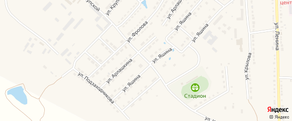 Улица Крупской на карте Порецкого села с номерами домов