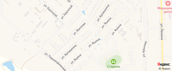 Улица Арлашкина на карте Порецкого села с номерами домов