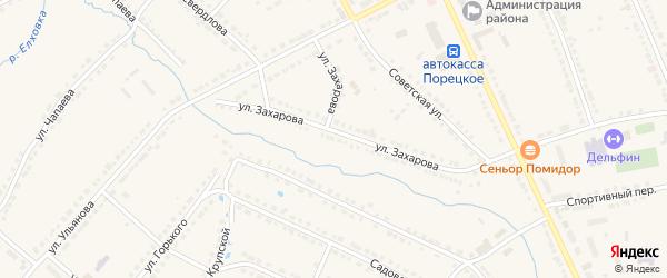 Километр Автодорога Порецкое-Бахмутово 2 на карте Порецкого села с номерами домов
