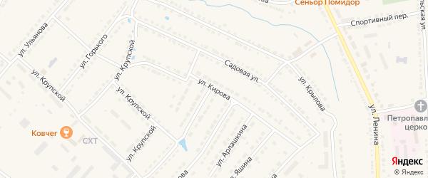 Улица Кирова на карте Порецкого села с номерами домов