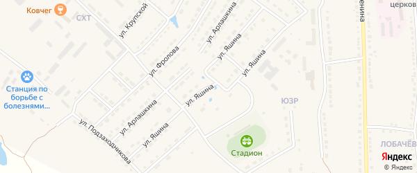 Улица Яшина на карте Порецкого села с номерами домов