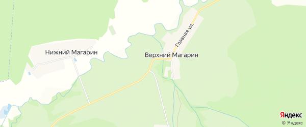 Карта деревни Верхнего Магарина в Чувашии с улицами и номерами домов