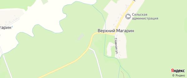 Главная улица на карте деревни Верхнего Магарина с номерами домов