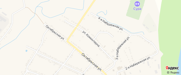 Улица Коминтерна на карте Порецкого села с номерами домов