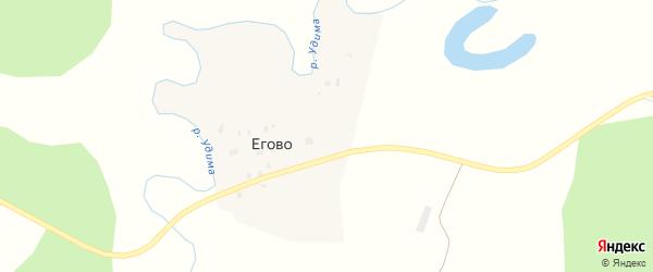Еговская улица на карте деревни Егово с номерами домов