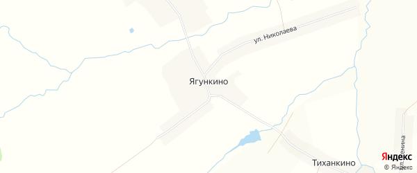 Карта деревни Ягункино в Чувашии с улицами и номерами домов
