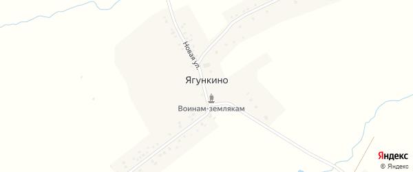 Новая улица на карте деревни Ягункино с номерами домов