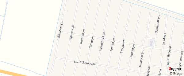 5-я улица на карте села Кошкельды с номерами домов