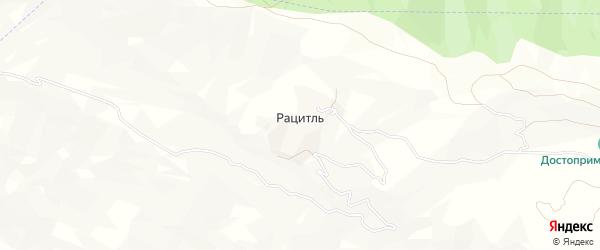Карта села Рацитля в Дагестане с улицами и номерами домов