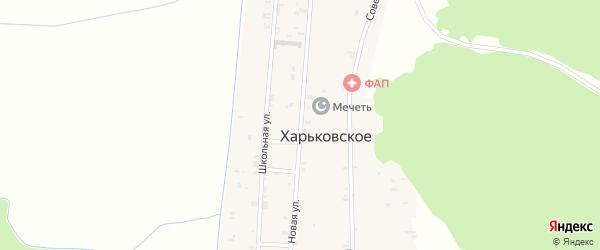 Новая улица на карте Харьковского села с номерами домов