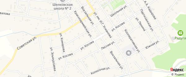Озерный переулок на карте Шелковской станицы с номерами домов