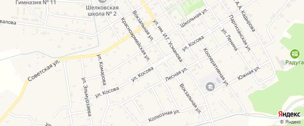 Луговая улица на карте Шелковской станицы с номерами домов