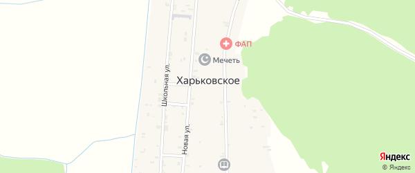Оросительная улица на карте Харьковского села с номерами домов