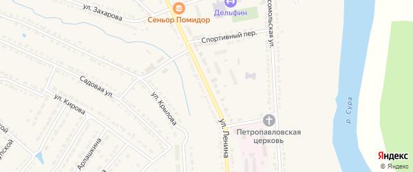 Улица Ленина на карте Порецкого села с номерами домов